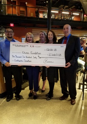 FUTURES Foundation receives $10,660 from CraftWorks Foundation (Rock Bottom)