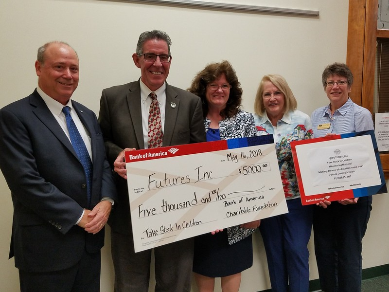 FUTURES FOUNDATION'S TSIC PROGRAM RECEIVES $5,000 FROM BANK OF AMERICA