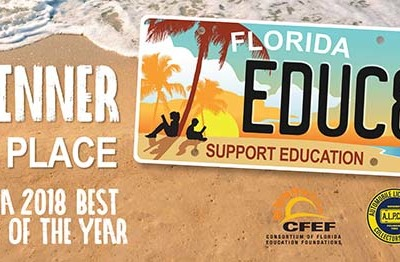 Florida's Refreshed 'Support Education' License Plate Garners International Recognition