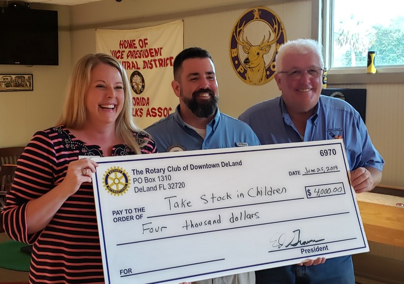 FUTURES FOUNDATION'S TSIC PROGRAM RECEIVES $4,000 FROM ROTARY CLUB OF DOWNTOWN DELAND