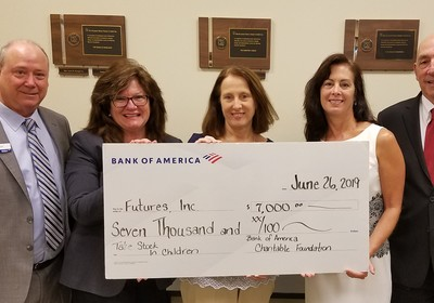 FUTURES FOUNDATION'S TSIC PROGRAM RECEIVES $7,000 FROM BANK OF AMERICA
